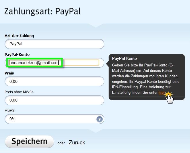 Paypal Konto Adresse