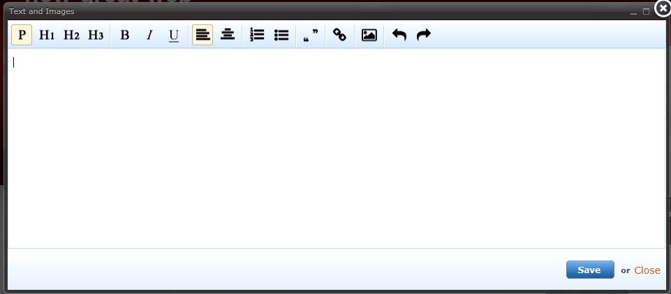 Text editor for IE