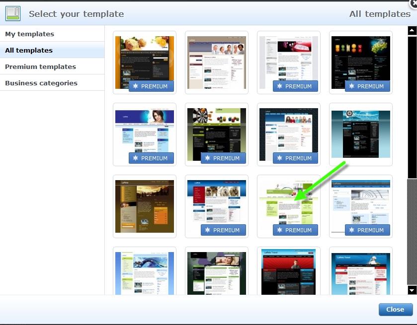 Webnode - Change the website template