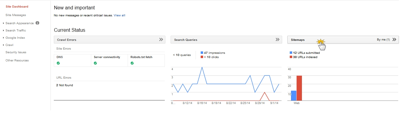 webnode how to add google search console