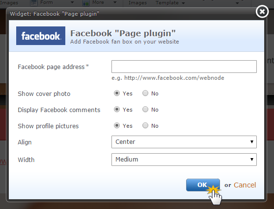 Add Facebook Page Plugin