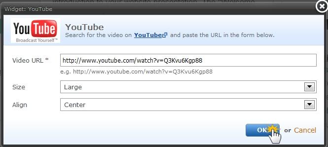 Webnode - Add a YouTube video
