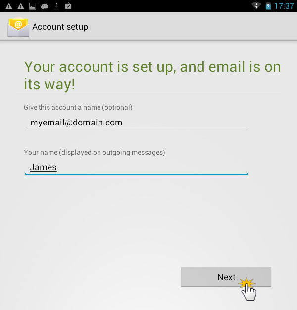 Set up email on an Android