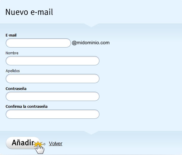Webnode crear una cuenta de correo electr nico for Correo la 14