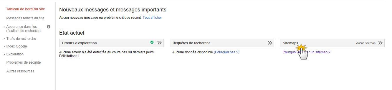 Envoyer un sitemap à Google