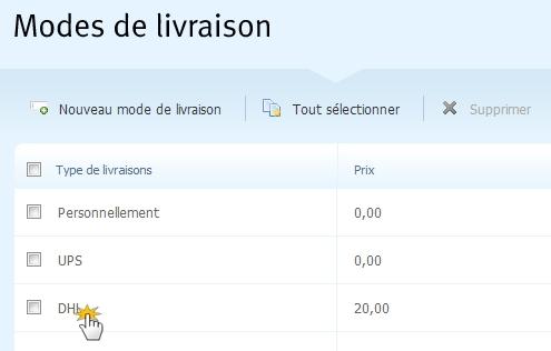 webnode configurer le suivi de colis