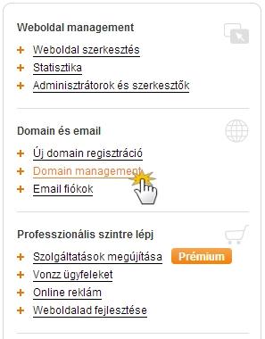domain jóváírás