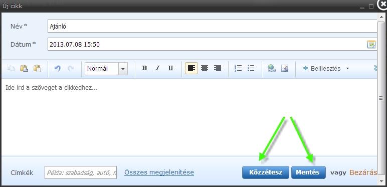 Hogyan adj weboldaladhoz új cikket