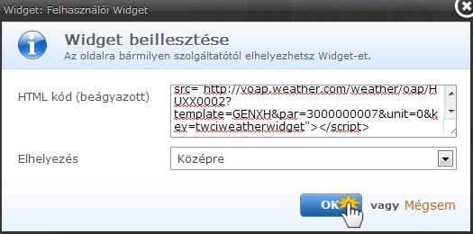 Hogyan adj widgetet az oldaladhoz