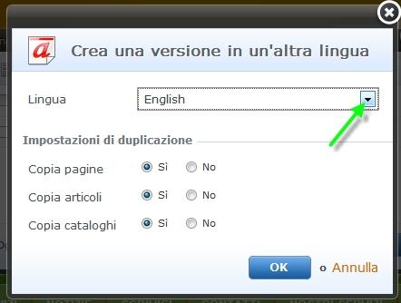 Funzione multilingua
