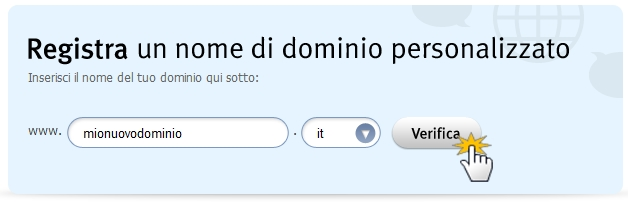 registra nome dominio
