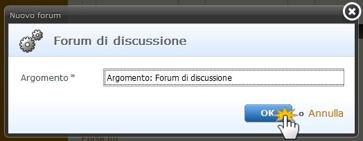 Aggiungere un forum
