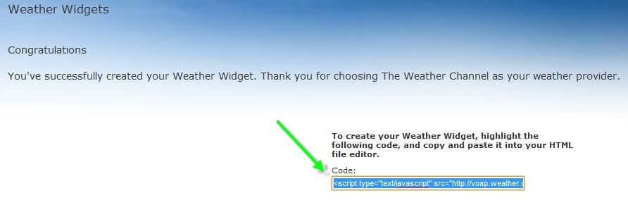 Aggiungere un widget