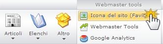 Cambiare l'icona del sito (Favicon)