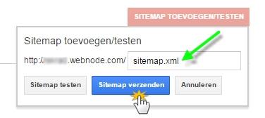 Sitemap verzenden