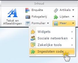 HTML code plaatsen