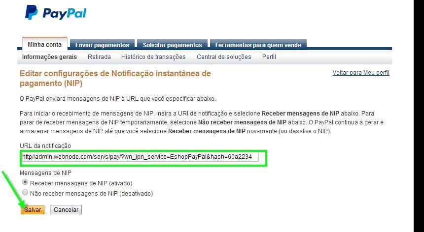 9eec9ff48 PayPal gateway. 11. A sua conta do PayPal já está habilitada para receber pagamentos  através deste portal.