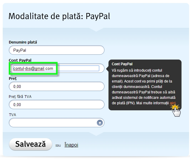 Set up the PayPal payment gateway