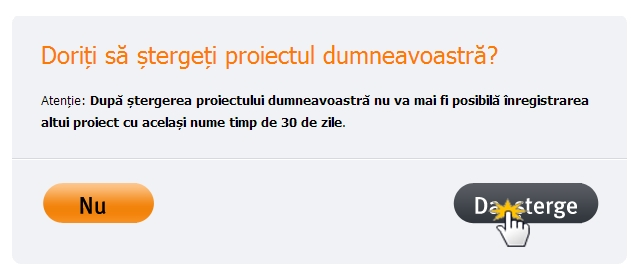 delete project