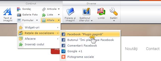 Adăugați Facebook Page Plugin