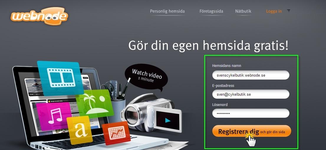 skapa hemsida gratis