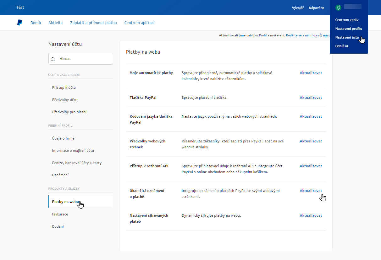 Profil PayPal