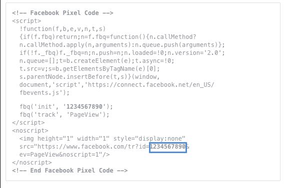 Přidání značky Facebook pixel na web