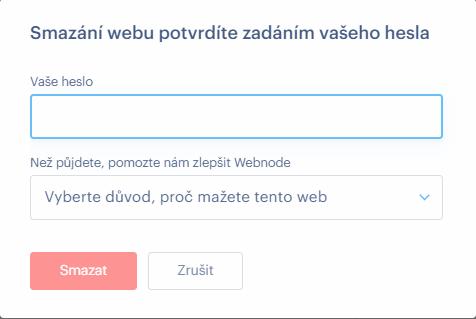 Jak smazat web