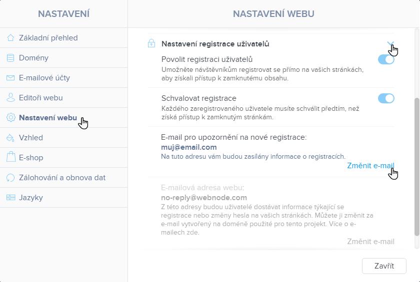 Změnit e-mail