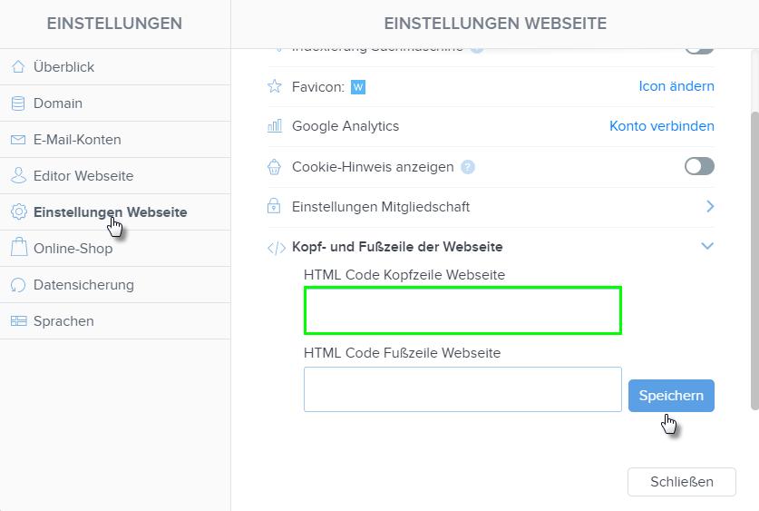 html in kopfzeile