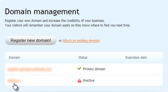 Verify the domain