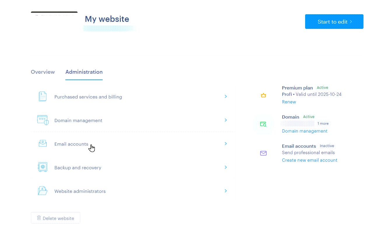Choose Emails Accounts