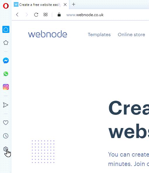 Click the gear icon