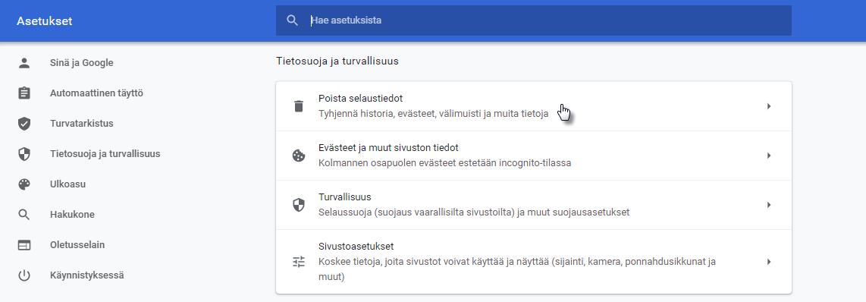Google Chrome - Tietosuoja ja turvallisuus