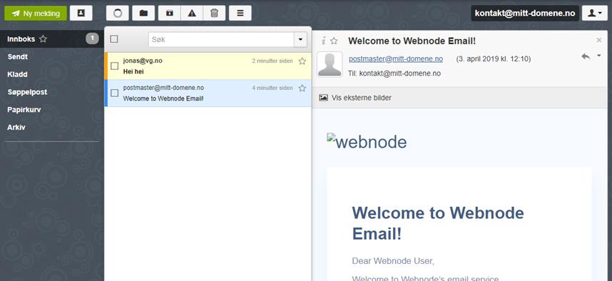 Webmail klienten