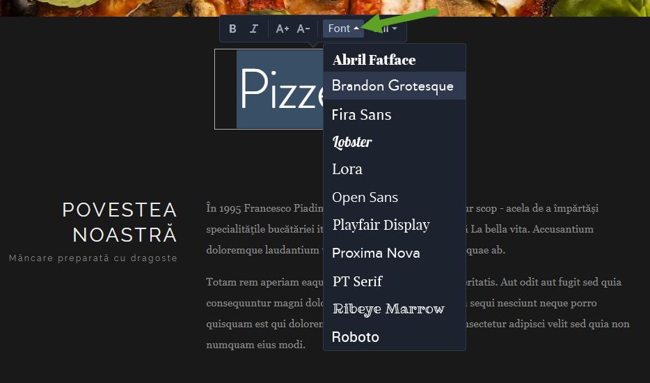 Cum să schimbați fontul pe website-ul dvs