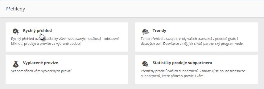 Webnode affiliate program - statistiky
