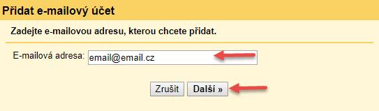 Nastavení pošty pro Gmail