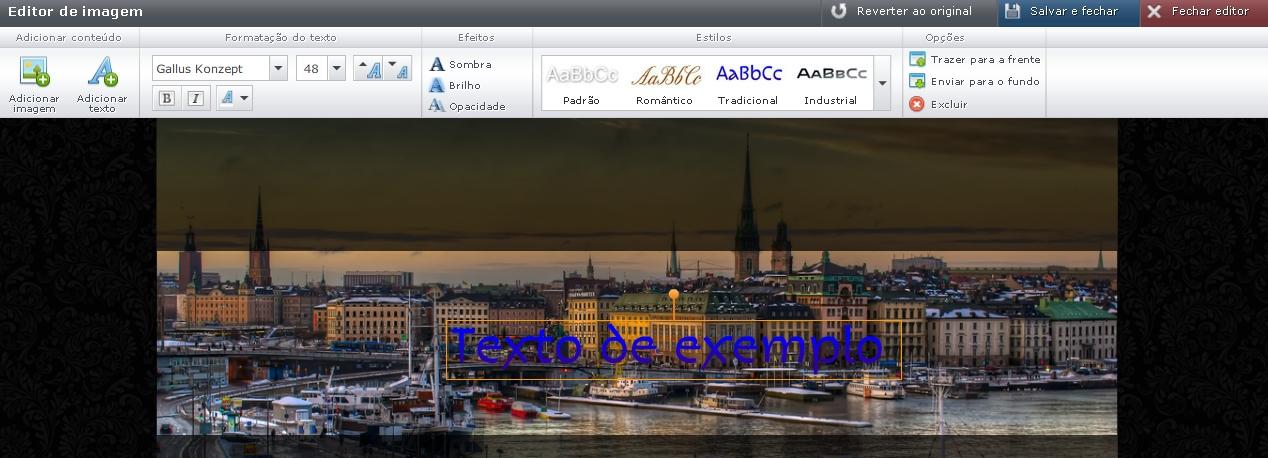 Editar o cabeçalho do site